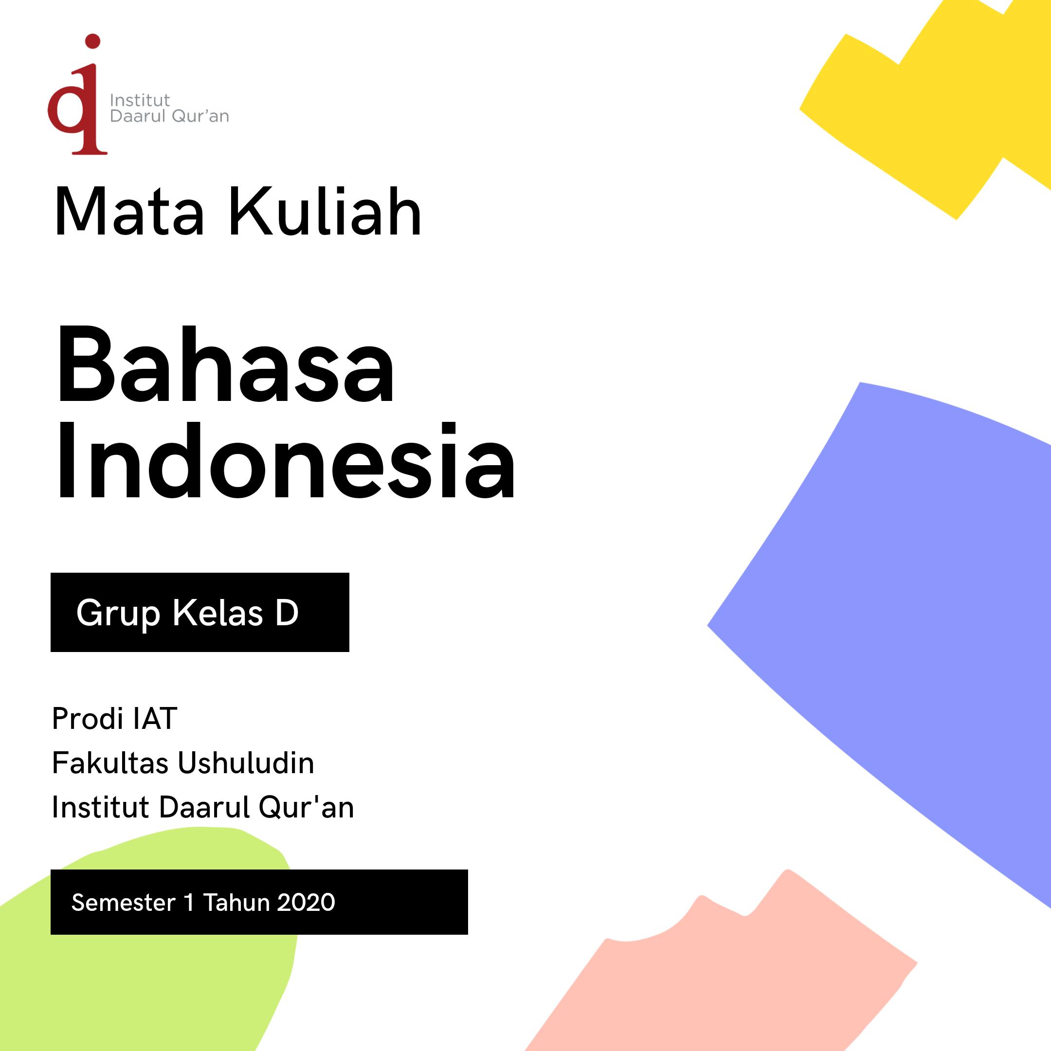 Bahasa Indonesia D Weekend